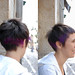 haircut short with purple