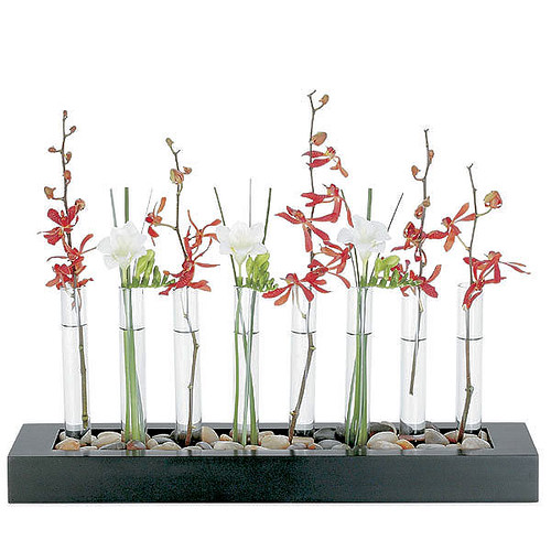 How can i reuse or recycle pretty glass spice jars how for Test tube flower vase rack