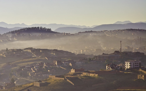 morning mist mountains landscape early bolivia sucre