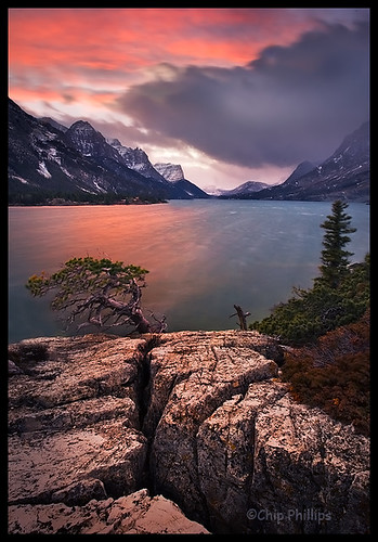 Stormy Saint Mary Lake
