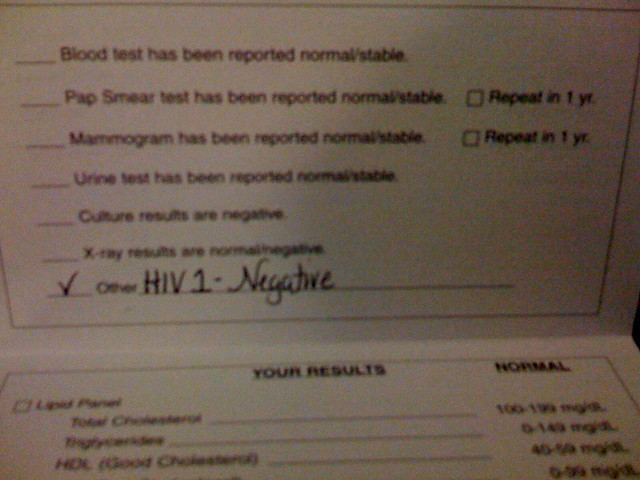 Remember My Hiv Test For World Aids Day Results Negative