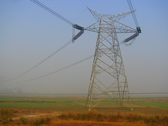 prairie, electrical supply, field, overhead power line, line, transmission tower, electricity, tower,