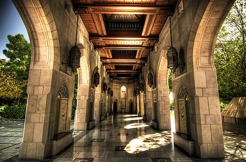 architecture islam corridor mosque arabic oman muscat hdr islamic sultanqaboosmosque 23dec2008