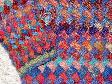 Harlequin Entrelac Sweater Flickr - Photo Sharing!