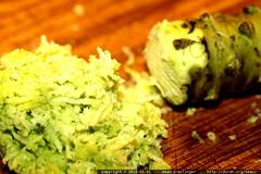 fresh grated wasabi rhizome