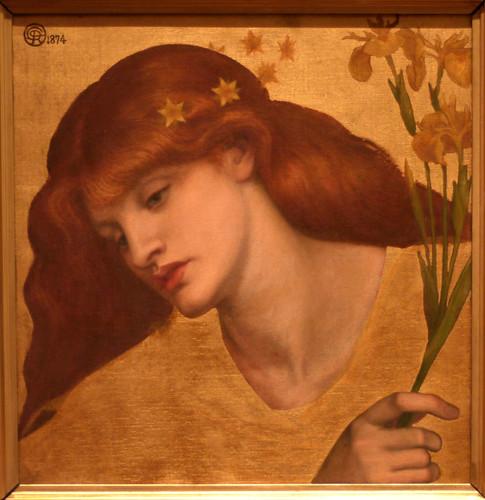 """""""Sancta Lilias"""" di Dante Gabriel Rossetti."""