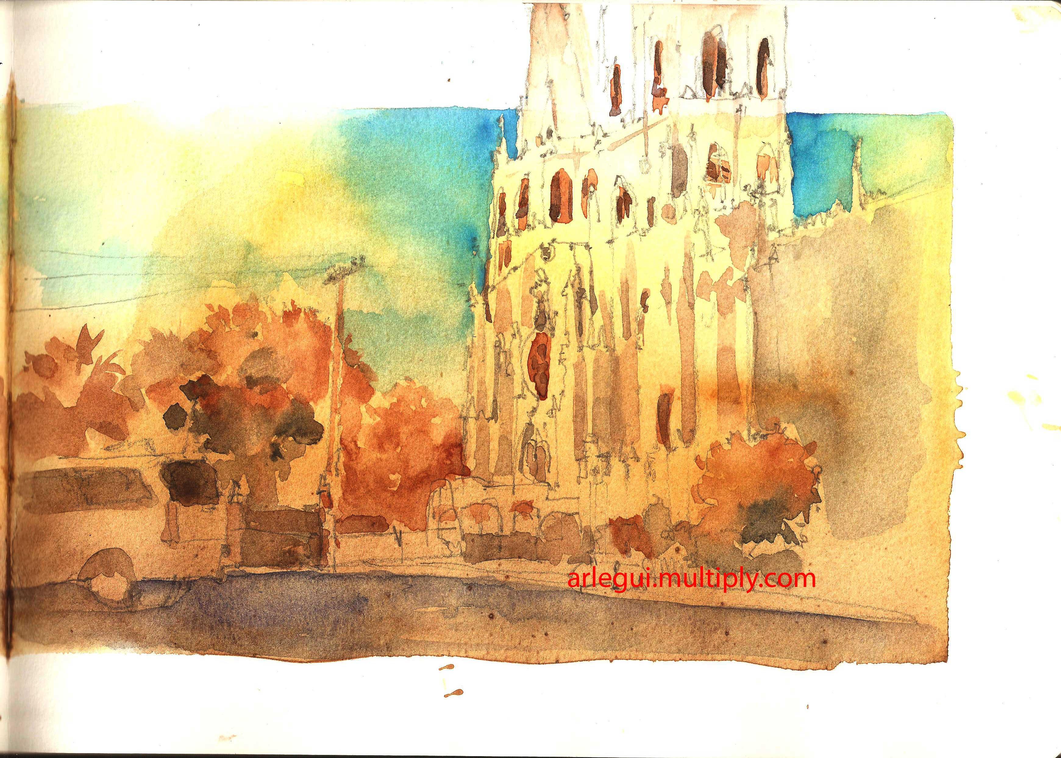 San Sebastian Church Drawing San-sebastian-church-sketch