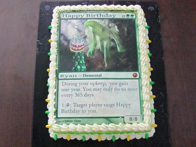 Magic The Gathering Birthday Cake Elemental A Photo On