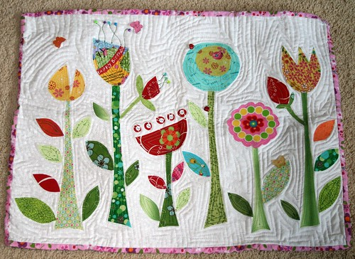 Four Seasons Quilt Swap - Spring Mini Quilt by Nikki