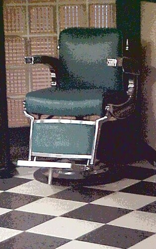 Vintage Barber Chair ~ SIC & Artsy Technique on My Photo