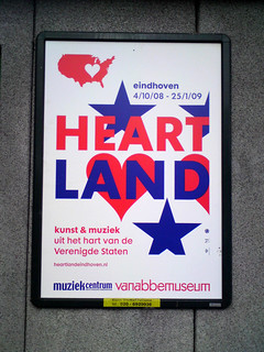 poster in the city of Amsterdam: HEART LAND