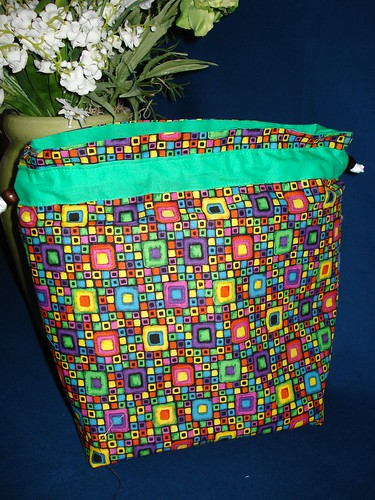 Geometric Knitting Bag