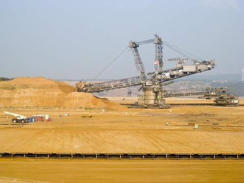 Giant machines at coalmine by Joost Barendregt