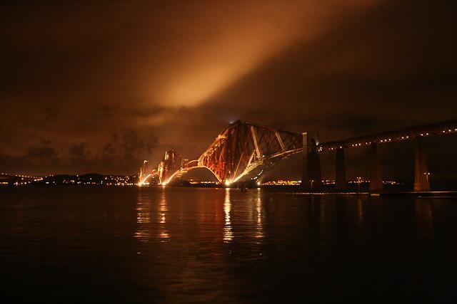 Forth Rail Bridge at Night