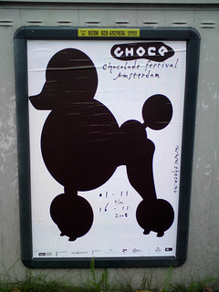 poster in the city of Amsterdam: chocolade festival amsterdam