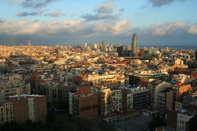 Barcelona from the Sagrada Família