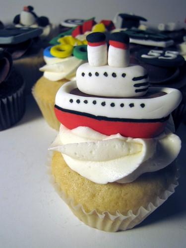 Cruise Ship Cupcake Vanilla Cupcake With Vanilla