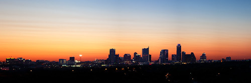 city morning sky skyline skyscraper sunrise austin dawn texas no tripod 2011
