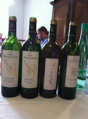 Mayne Lalande wines, what a line-up!