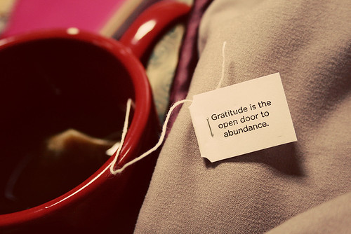 Gratitude reminder from my Yogi tea