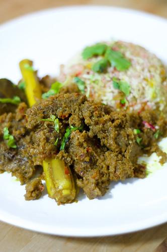 Beef Rendang & Nasi Hujan Panas