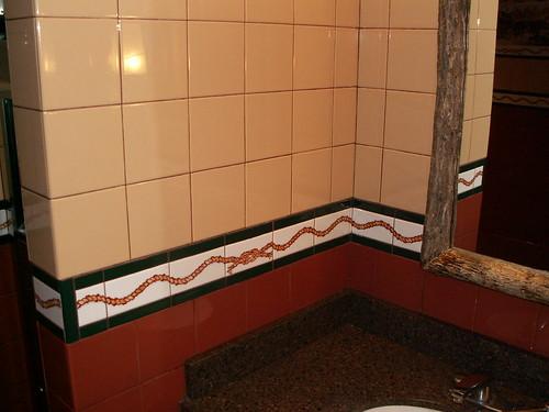 Pioneer Hall Restrooms - Wall Tile Detail - rope pattern