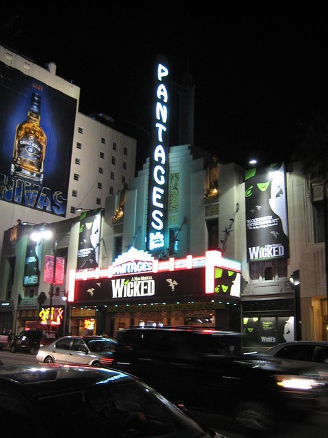 Wicked at the Pantages Theater. (02/27/2008)