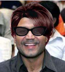 Sehwag with hair and sun glasses