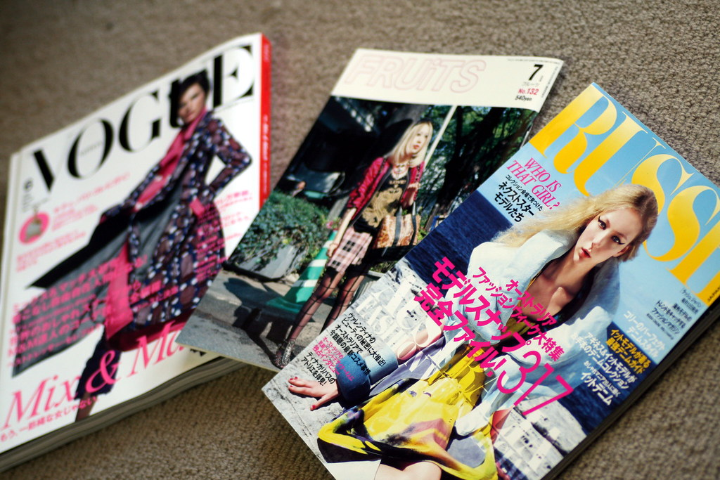 Japan Vogue Fruits and Russh Magazines