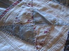 Vintage Quilt Square  - sort of a Pinwheel