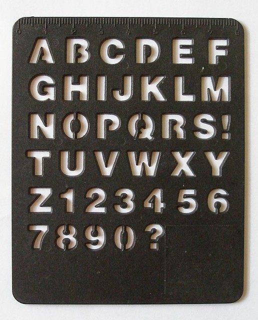Helvetica stencil flickr photo sharing for Helvetica letter stencils