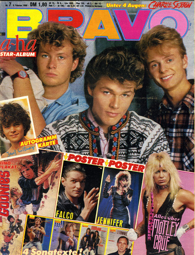 Bravo - February 4, 1986 (Germany). Great teen magazine from West Germany.