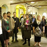 Computing and Design student groups with Prime Minister Helen Clark at Dunedin Gasworks Museum