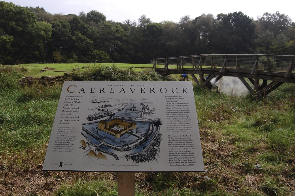 Caerlaverock Mapa