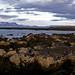 Reykjavik, rocks and lighthouse