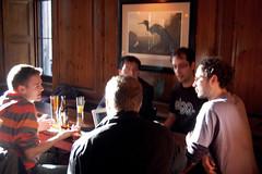 A blurry photo of Elgg Meet Edinburgh