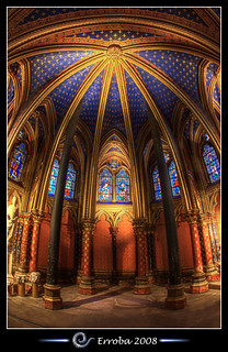 Sainte Chapelle, Paris, France :: HDR :: Fisheye