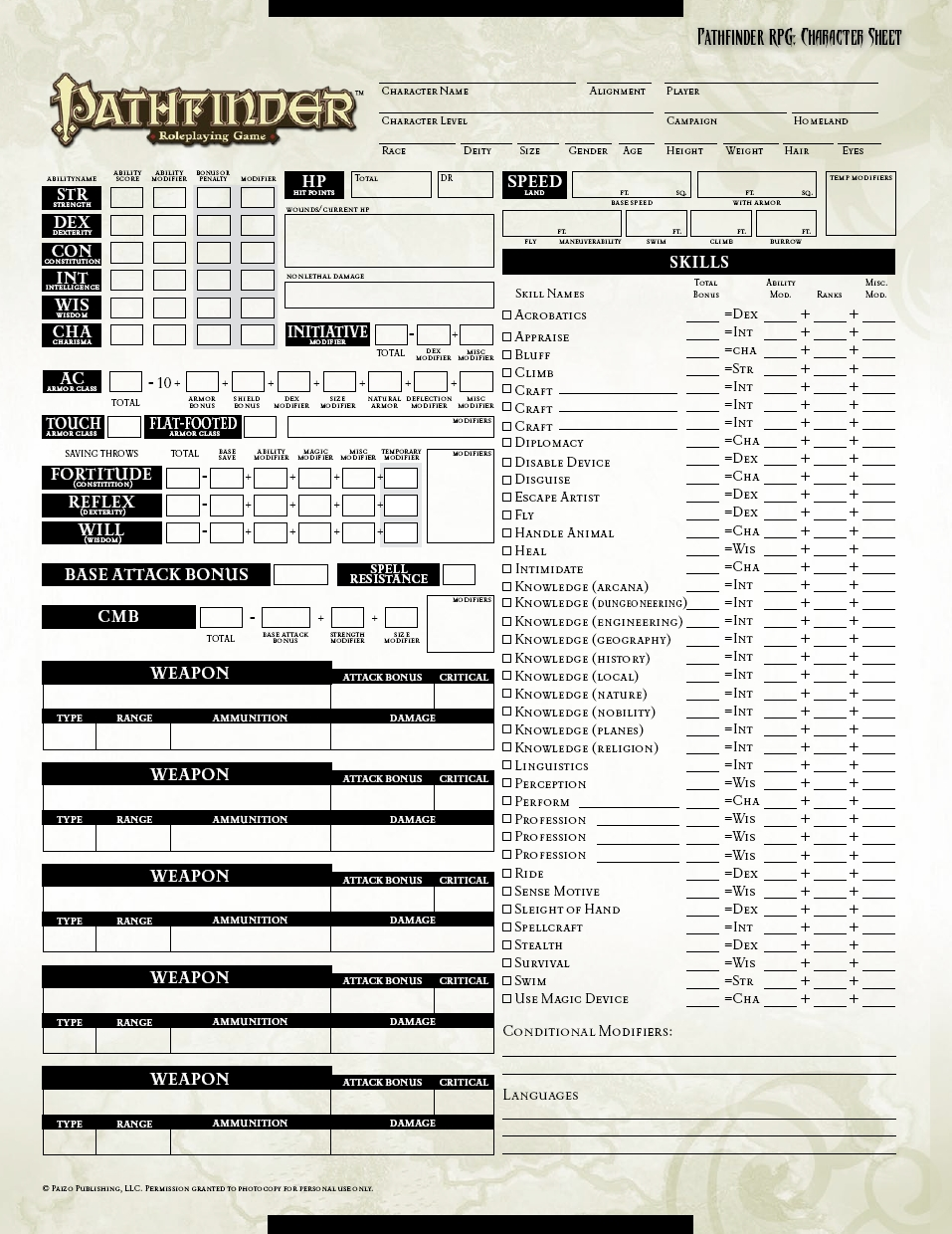 pathfinder character sheet printable request pathfinder character sheet myth weavers 23913 | 3099731129 70f7871e5e o