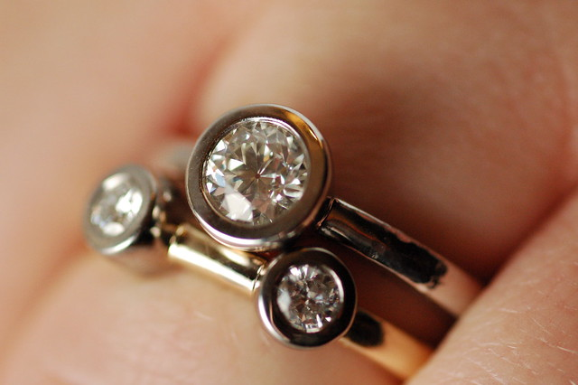 Engagement Ring  Diamonds Gold