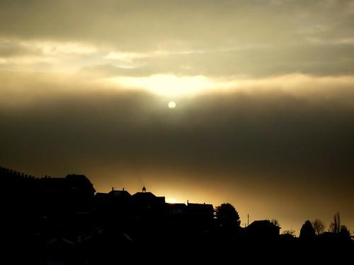 lake sunrise switzerland shadows leman vaud romandie grandvaux genevalunch