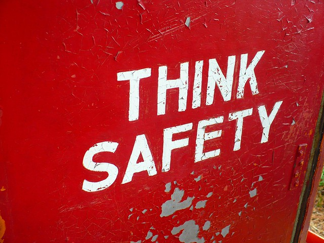 Think Safety Sign, Heritage Village
