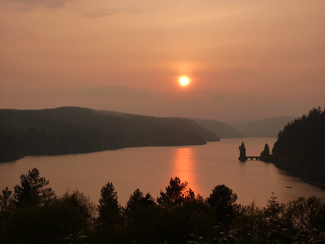Sunset over Lake Vyrnwy