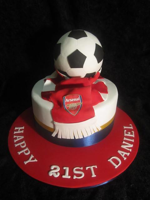 Arsenal Soccer Cake  Flickr - Photo Sharing!