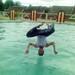 terbang terbalik di atas air