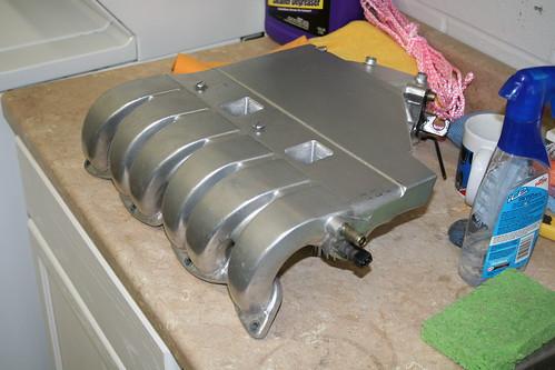 fs bright silver powder coated obd2 vr6 upper intake manifold. Black Bedroom Furniture Sets. Home Design Ideas