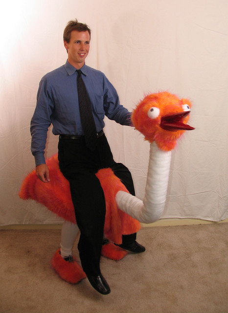 how to make an ostrich costume