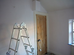 floor, room, ceiling, interior design, ladder,