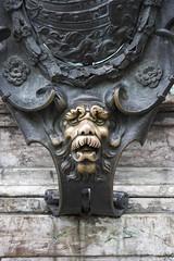 carving, art, gargoyle, sculpture, iron,