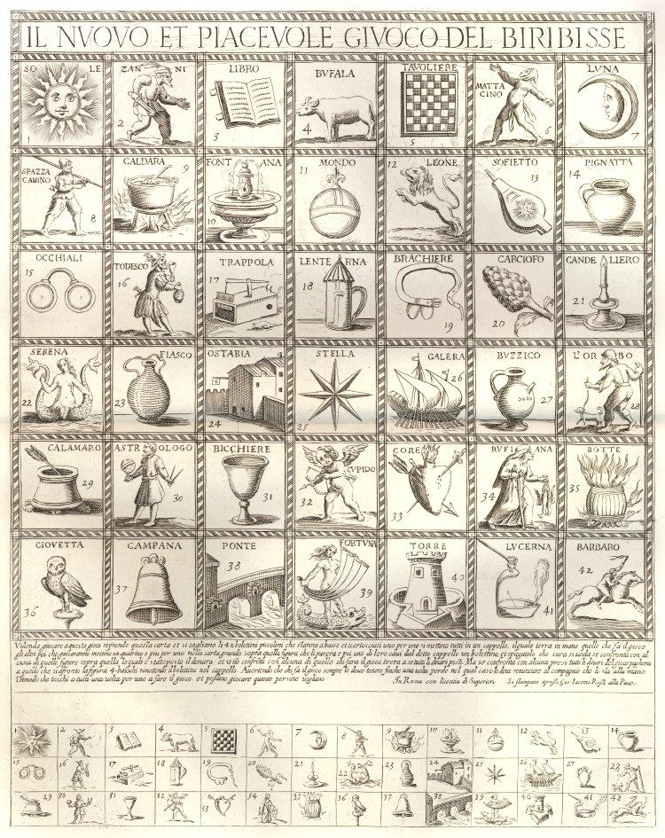 Il Nuovo et Piacevole Giuoco del Biribisse (1640-1690)