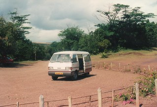 Our minivan at Chamarel